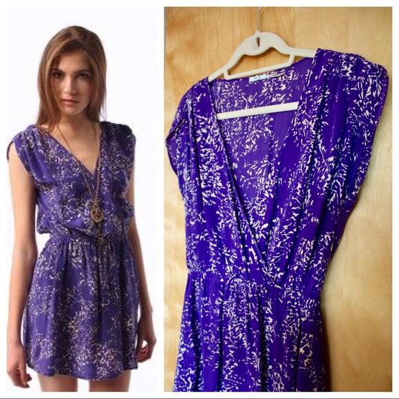 Purple Print Dresses